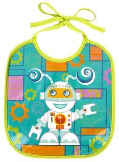 keladeco.com - #bavoir garçon petit glouton robot, idée cadeau naissance garçon - PYLONES