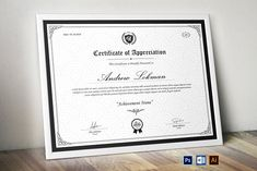 Certificate by CreativeZoom Certificate Of Appreciation, Certificate Of Achievement, Certificate Design, Certificate Templates, Stationery Templates, User Guide, Paper Size, Lettering, Business Company