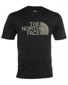 North Face S/S Chain Link Reaxion Crew Tee Mens CKC4-JK3 Black T-Shirt Size L