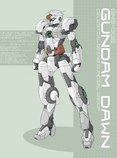 Gundam Dawn by *Tekka-Croe on deviantART ★ || CHARACTER DESIGN REFERENCES (www.facebook.com/CharacterDesignReferences & pinterest.com/characterdesigh) • Love Character Design? Join the Character Design Challenge (link→ www.facebook.com/groups/CharacterDesignChallenge) Share your unique vision of a theme every month, promote your art and make new friends in a community of over 20.000 artists! || ★