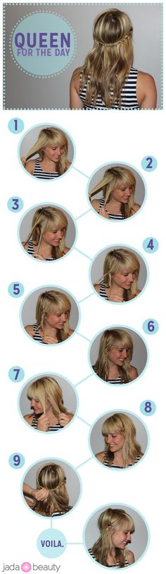 crown rope braid #hair #tutorial - pin now, try later!