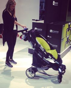 Wouldn't this make all those crazy shopping trips easier?! The @4moms_hq Origami stroller opens and closes with just one push of a button!! #abckids15