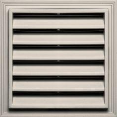 Builders Edge 12-in x 12-in Almond Square Vinyl Gable Vent