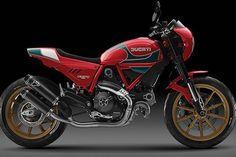 Mike Hailwood Limited-Edition Ducati Scrambler - The Bullitt Ducati Pantah, Ducati Scrambler, Scrambler Icon, Scrambler Custom, Ducati Motorcycles, Scrambler Motorcycle, Custom Motorcycles, Norton Cafe Racer, Modern Cafe Racer