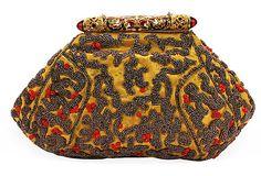 Yellow Silk Beaded Bag on OneKingsLane.com.