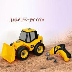Excavadora desmontable con maquina atornillador  de doble dirección.