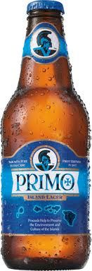 Primo beer, made with cane sugar. Drank it all the time when I lived on Oahu. Simple, a little on the sweet side, but a taste of Hawaii nonetheless!   Check BEVMO for it!