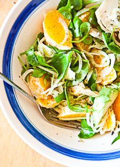 Zesty, creamy, crispy. That's salad perfection for me. I've been discovering the joys of using oranges in place of tomato segments, and I am kicking myself for not doing this earlier. I…