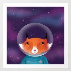 Galaxy Fox Art Print by Dale Keys - $18.00