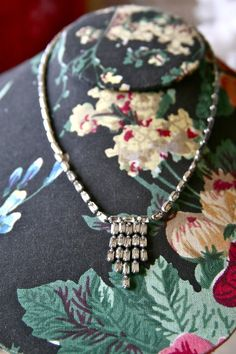 1950s Diamond Dropping Necklace