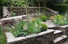 An artisan garden at RHS Chelsea 2013 - Un Garreg (One Stone),  which won a gold medal.