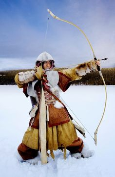 Archery photo of an Inuit woman