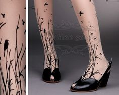 Bird #tattoo #socks by Gabby and Tal from Tel Aviv - ITS NOT JEWELRY - but surely will be treated the same way :) $21