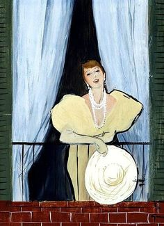 René Gruau   The Balcony, ca.1950