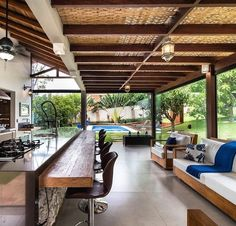 Outdoor Pergola, Outdoor Rooms, Backyard Patio, Backyard Furniture, Furniture Ideas, Best Outdoor Furniture, Outdoor Kitchens, Furniture Makeover, Outdoor Living