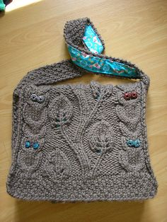 Ravelry: think4leafclover's Owl, Leaves, and Vines Messenger Bag