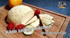 Käse mit Milch und Topfen selber machen - Rezept von Let's Bbq And Grill Lab, Dairy, Eggs, Cheese, Mozzarella, Breakfast, Ethnic Recipes, Food, Youtube