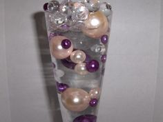 Easy Elegance PURPLE & PINK Pearl Beads w/FREE Jelly BeadZ® Water bead gel pearls ($3.95 Value) - Great for Wedding Centerpieces and Decorations -- Click image for more details.
