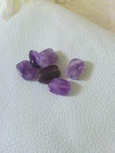 New  13X9X5mm Amethyst Faceted Nugget Beads  6 Count by SkullMoto, $1.50