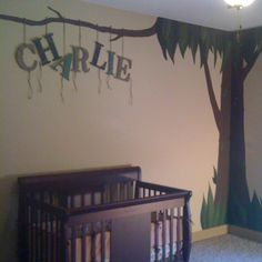 Do it yourself letters for jungle themed nursery