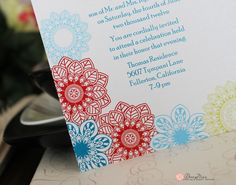 Lisa Marie Invitation by RoseyMae Wedding Paper Design. Whimsical Wedding Invitations, Lisa Marie, Wedding Paper, Paper Design, Getting Married, Floral Prints, Colors, Fun, Floral Patterns