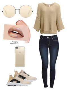 """""""❤️"""" by allonasada on Polyvore featuring NIKE, Free People, Victoria Beckham and Speck"""