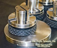 Turntable Low Profile Engraving Vise and turntables