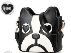 Latest collection Fashion Women faux leather  Handbag Cute Dog Cartoon Messenger Bag Cross Body