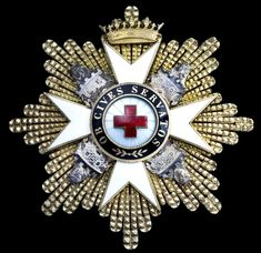 SPAIN - Order of the Red Cross, First Class breast Star, by Cejalvos, Madrid, 82mm, silver-gilt, silver and enamel,