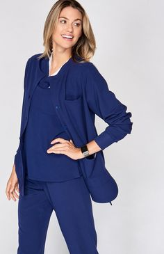 You asked for it and we delivered. The Tangier scrub jacket is finally here. Supremely functional with a relaxed, sporty fit and snap closure, our scrub jacket is lightweight, durable and guaranteed to hold this, that and that other thing. Perfect your scrubs.