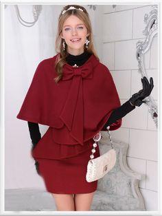 Morpheus Boutique  - Red Trench Bow Wool Designe Coat, $99.99 (http://www.morpheusboutique.com/red-trench-bow-wool-designe-coat/)