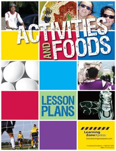 Activities and Foods Lesson Plans