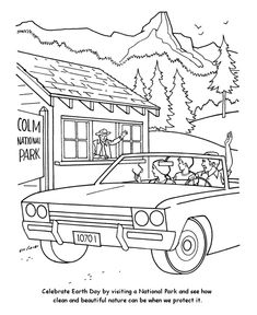 earth day coloring page national parks show us nature earth day coloring pages summer