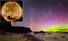 A solar storm lights up the Earth as coronal hole flings out particles