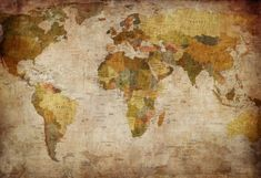 GREAT ART XXL Poster World map photo wallpaper vintage retro motif - XXL world map mural - wall art decoration 55 Inch x Inch Wallpaper World Map, World Map Mural, World Map Poster, Photo Wallpaper, Wall Wallpaper, Custom Wallpaper, Wallpaper Ideas, Mural Wall Art, Wall Maps