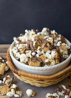 S'mores Popcorn! Quick and easy recipe!