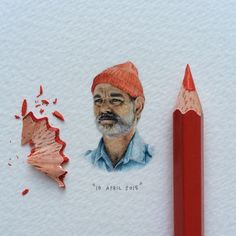 Miniature portrait of Bill Murray by Lorraine Loots