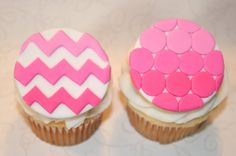 Fondant cupcake toppers ombre , can do any color!