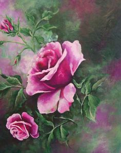 rose painting canvas art original rose art canvas by RoyalRococo Oil Painting Flowers, Watercolor Flowers, Painting & Drawing, Art Floral, Flower Artists, Art Vintage, Contemporary Wall Art, Rose Art, Abstract Wall Art
