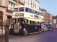 Old Dublin Photos - Old Dublin Town CIE R393, is seen on College Green, Dublin in 1969