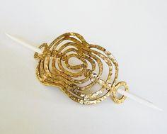 Vintage #Brutalist #Brass Hammered #Ponytail #HairPin with Stick #Artisan #Handmade http://www.ebay.com/itm/Vintage-Brutalist-Brass-Hammered-Ponytail-Hair-Pin-with-Stick-Artisan-Handmade-/121730163288?hash=item1c57aee258… #myricky