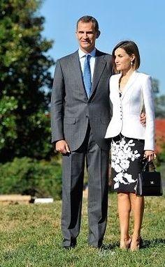 Don Felipe y Doña Letizia junto a la residencia de George Washington. Mount Vernon, 15.09.2015