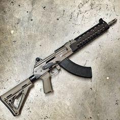 Krebs Custom Fixed Stock FDE - Copper Custom Armament Military Weapons, Weapons Guns, Guns And Ammo, Assault Weapon, Assault Rifle, Krebs Custom, Custom Guns, Custom Ak47, Tactical Rifles