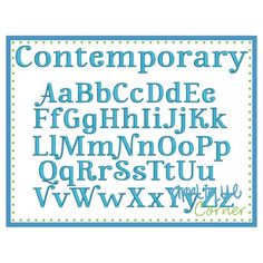 Contemporary Embroidery Font