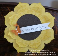Great 3-D card using the Daydream Medallion stamp set and the Floral Frames Framelits from Stampin' Up!