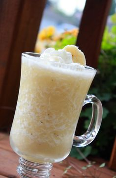 Banana Daiquiri.....3oz Dark Rum     1oz Banana Liquour     Splash Lime Juice     1tbs Sugar     1 Cup of Ice     1 ripe banana sliced