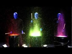 Time Warp: Blue Man Group Paint Drumming - YouTube (1:34)