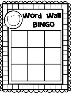 Free printable blank bingo cards template 4 x 4 for Blank word wall template free
