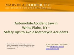 Safety Tips to Avoid Motorcycle Accidents | White Plains NY