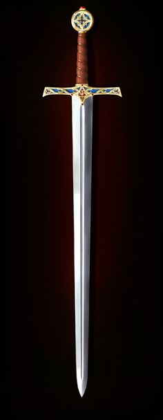 Cosplay Weapons, Anime Weapons, Fantasy Weapons, Swords And Daggers, Knives And Swords, Tiger Artwork, Sword Belt, Cool Swords, Sword Design